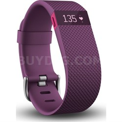 Charge HR Wireless Activity Wristband, Plum, Large - OPEN BOX