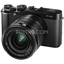 X-M1 Compact System 16MP Digital Camera Kit with 16-50mm Lens Black - OPEN BOX