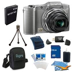 16 GB Kit SZ-12 14MP 3.0 LCD 24x Opt Zoom Digital Camera - Silver