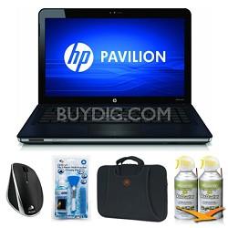 """Pavilion 14.5"""" dv5-2230us Blue Notebook Essentials Bundle"""