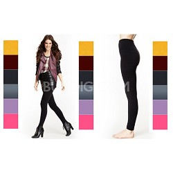 6-Pack Seamless Leggings One Size Fits Most  (4 Black/2 Pink)
