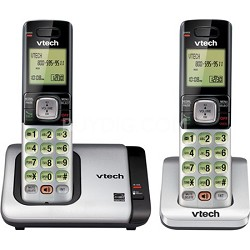 CS6719-2 DECT 6.0 2 Handset Cordless Phone w Caller ID/Call Waiting - Black/Grey