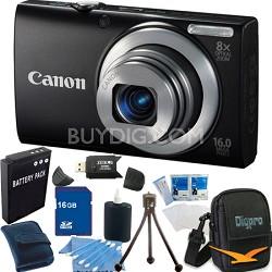 PowerShot A4000 IS 16MP Black Digital Camera 16GB Bundle