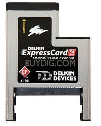 ExpressCard 54 Compact Flash adapter w/ 2-Year Warranty