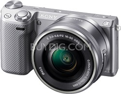NEX-5RL/S Compact Interchangeable Lens Digital Camera with 16-50 Lens (Silver)