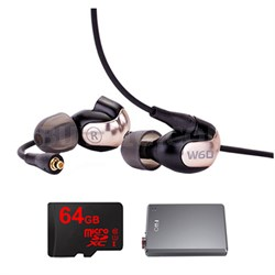 W60 Premium In-Ear Monitor - 78507 w/ FiiO A5 Amp Bundle