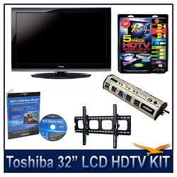 "32"" 1080p LCD HDTV + Hook-up Kit + Power Protection + Calibration + Tilt Mount"