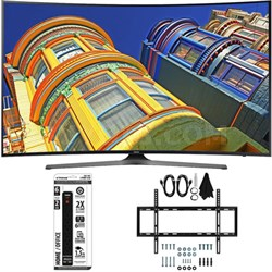 "49"" Class KU6500 6-Series Curved 4K Ultra HD TV w/ Slim Wall Mount Bundle"