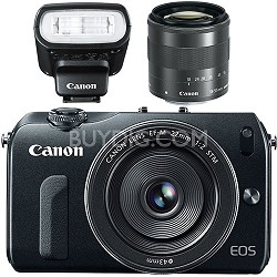 EOS M 18MP SLR  w/ 18-55mm STM , 22mm STM Pancake Lens And Speedlight 90EX Flash