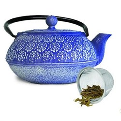 Cast Iron 40 oz. Teapot Blue
