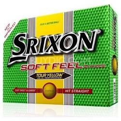 Men's Soft Feel Tour Yellow Golf Balls - 12 Pack