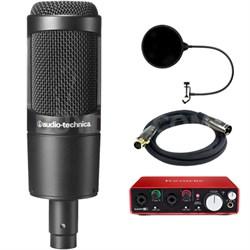 Large Diaphragm Studio Condenser Microphone w/ Interface Bundle