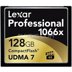 Professional 128GB 1066X Compact Flash Memory Card