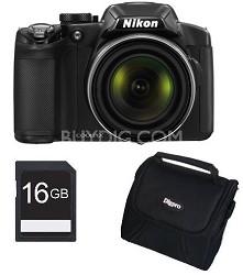 COOLPIX P510 16.1MP 42x Opt Zoom 3.0 LCD Digital Camera Bundle w/ 16GB SDHC Card