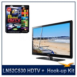 "LN52C530 - 52"" HDTV + High-performance Hook-up & Maintenance Kit"