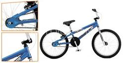"""Brawler 20"""" Dirt/Street BMX Bike - Black/Blue"""