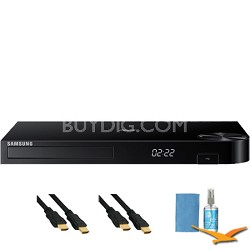 3D Blu-ray Player with Wifi and HD Upconversion Plus Hook-Up Bundle - BD-H5900