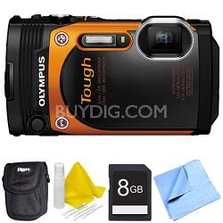 TG-860 Tough Waterproof 16MP Digital Camera with 3-Inch LCD - Orange Bundle