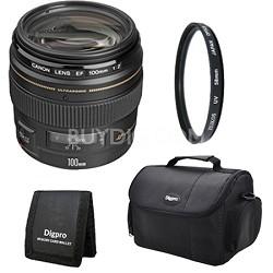 EF 100mm F/2.0 USM Lens Exclusive Pro Kit