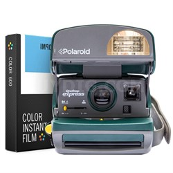 Polaroid 600 Round Camera - Green w/ Instant Lab Color Film Bundle