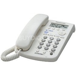 KX-TSC14W 2 Line Corded Telephone with Call Waiting Caller ID