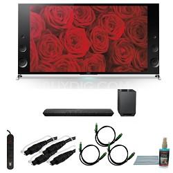 XBR55X900B - 55-inch 120Hz 3D LED X900B Premium 4K Ultra HD TV Bundle