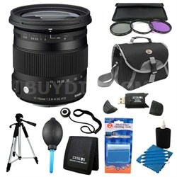 17-70mm F2.8-4 DC Macro OS HSM Lens for Canon Deluxe Filter Kit Bundle