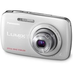 Lumix DMC-S3 14MP Compact White Digital Camera w/ 720p HD Video