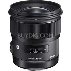 24mm f/1.4 DG HSM Wide Angle Lens (Art) for Sony DSLR Camera Mount
