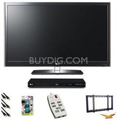 55LV5500 - 55 inch 120hz 1080P LED Smart TV Bundle