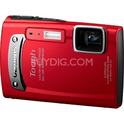 Tough TG-310 14 MP Waterproof Shockproof Freezeproof Digital Camera - Red
