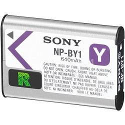 NPBY1 Action Cam Battery Compatible with HDR-AZ1VR Action Cam
