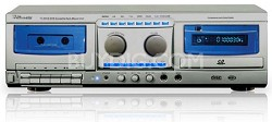 Professional CD to Cassette Combo (Silver)