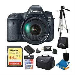 EOS 6D SLR Digital Camera with Canon 24-105mm f/4.0L IS USM AF Lens 64GB Bundle