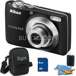 COOLPIX L24 14MP Black Digital Camera 4GB Bundle