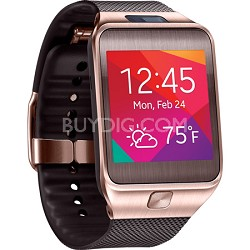 Gear 2 Dust and Water Resistant Brown Watch with Camera and Heart Rate Sensor