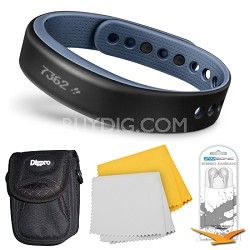 vivosmart Bluetooth Fitness Band Activity Tracker - Large - Blue Bundle