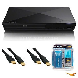 BDP-S3200 Wi-Fi Blu-ray Disc Player HDMI Cable Bundle