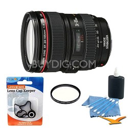 EF 24-105mm F/4L Image Stabilizer W/ UV Filter & Accy Kit