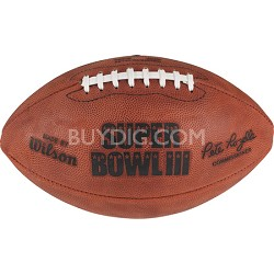 Super Bowl III NFL Authentic Game Football (NY JETS)