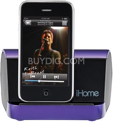 iHM9 Portable Stereo System for iPod, iPhone, and MP3 Players (Purple)