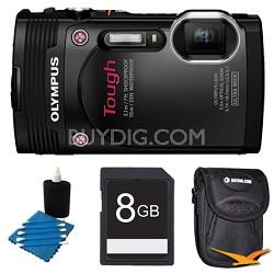 TG-850 16MP Waterproof Shockproof Freezeproof Digital Camera Black Kit