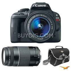 EOS Rebel SL1 SLR Digital Camera EF-S 18-55mm and 75-300mm Bundle