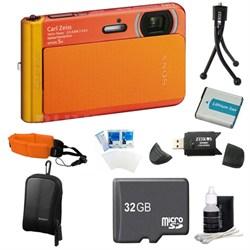 DSC-TX30/D Orange Digital Camera 32GB Bundle
