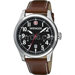 Men's Terragraph Watch - Black Dial/Brown Leather Strap