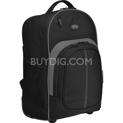 "Compact Roller Backpack for 16"" Laptop"