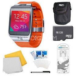 Gear 2 Orange Watch, Case, and 16GB Card Bundle