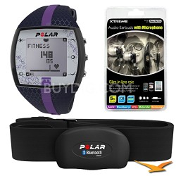 FT7  Heart Rate Monitor Watch - Blue/Lilac Bundle