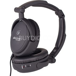 NC200B True Fidelity Foldable Active Noise Canceling Headphones (Blk) - OPEN BOX