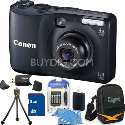 PowerShot A1200 Black Digital Camera 8GB Bundle